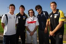 Jarno Trulli, Toyota Racing with AFL PLayers - Karting with Australian Football League Players, Australian Grand Prix, Thursday