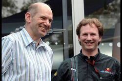 Adrian Newey, Red Bull Racing, Technical Operations Director and Christian Horner, Red Bull Racing,