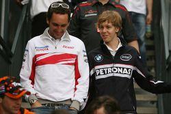 Franck Montagny et Sebastian Vettel