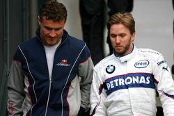 David Coulthard, Red Bull Racing et Nick Heidfeld, BMW Sauber F1 Team