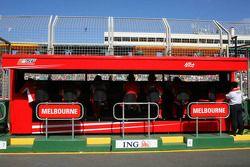 Muret des stands Ferrari