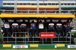 Muret des stands Renault