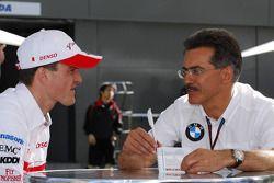 Ralf Schumacher and Mario Theissen, BMW Sauber F1 Team, BMW Motorsport Director