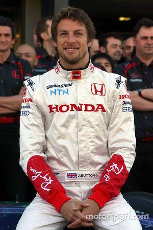 Honda F1 Team photoshoot, Jenson Button, Honda Racing F1 Team