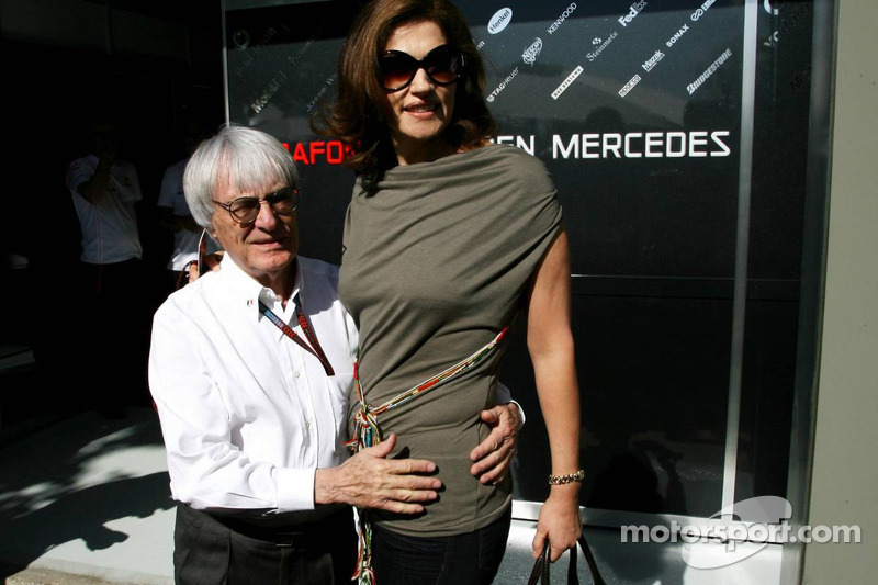 Bernie Ecclestone et Slavica Ecclestone, sa femme