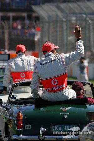 Desfile de pilotos: Lewis Hamilton, McLaren Mercedes