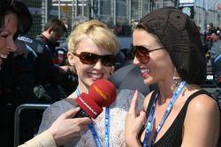 Kylie Minogue, Australian pop-singer and Dannii Minogue Australian pop-singer