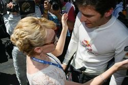 Kylie Minogue, Australian pop-singer and Mark Webber, Red Bull Racing