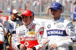 Fernando Alonso, McLaren Mercedes and Robert Kubica, BMW Sauber F1 Team