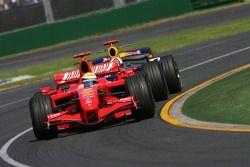 Felipe Massa, Scuderia Ferrari, F2007 and David Coulthard, Red Bull Racing, RB3