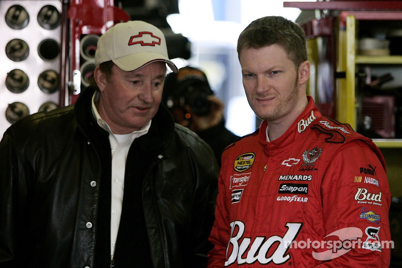 Dale Earnhardt Jr. with Richard Childress