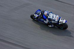 Jason Disalvo rounding the high bank of turn 4 at Daytona