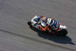 Tony Meiring rounding the high bank of turn 4 at Daytona