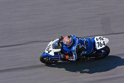 Shane Narbonne rounding turn 4's high bank at Daytona International Speedway