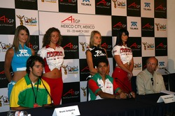 A1GP media day Press conference with Bruno Junqueira, Driver of A1Team Brazil and Salvador Duran, Driver of A1Team Mexico