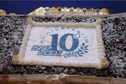 Équipe Gresini célèbre le 10e anniversaire