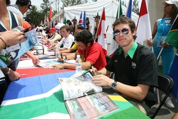 Autograph session: Alan van der Merwe, Driver of A1Team South Africa