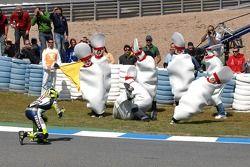 Valentino Rossi, celebración