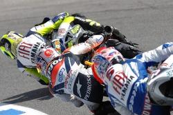 Valentino Rossi, Dani Pedrosa et Colin Edwards
