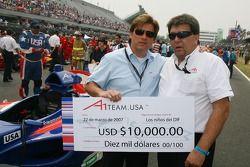 Rick Weidinger, titulaire du siège de l'équipe des Etats-Unis avec Tony Teixeira, A1Gp