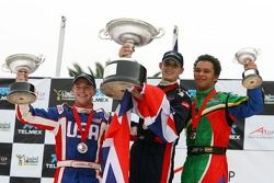 Jonathan Summerton, Driver of A1Team USA, Oliver Jarvis, Driver of A1Team Great Britain, Adrian Zaugg, Driver of A1Team South Africa
