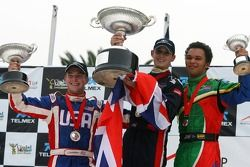 Jonathan Summerton, Driver of A1Team USA, Oliver Jarvis, Driver of A1Team Great Britain and Adrian Zaugg, Driver of A1Team South Africa