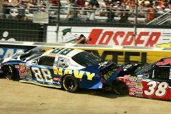 Shane Huffman et Jason Leffler crash