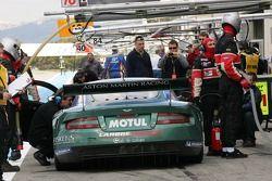 Aston Martin Racing Larbre pit area