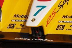 Detail of the pole winning Penske Motorsports Porsche RS Spyder
