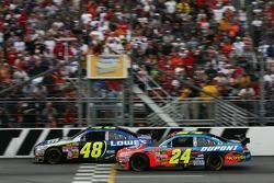 Jimmie Johnson, Hendrick Motorsports Chevrolet; Jeff Gordon, Hendrick Motorsports Chevrolet