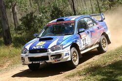 Matthew Selley et Joana Fuller dans leur Subaru Impreza WRX Sti