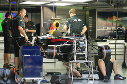 Red Bull Racing garage area