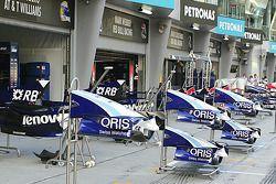 Williams F1 garajı area