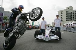 Malacca, Malaysia, Robert Kubica and Nick Heidfeld