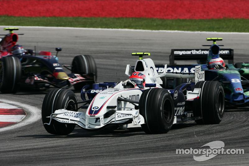 Robert Kubica, BMW Sauber F1 Team, F3.07 ve Rubens Barrichello, Honda Racing F1 Team, RA107
