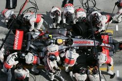 Parada de Lewis Hamilton
