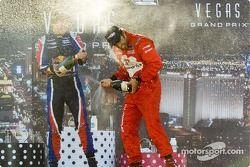 Podium: race winner Raphael Matos with Robert Wickens