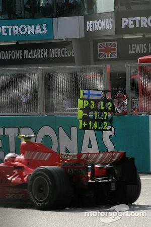 Kimi Raikkonen, Scuderia Ferrari pitboard