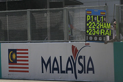 One lap to go for Fernando Alonso