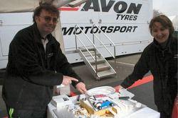 Gâteau du 25e anniversaire de Avon