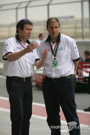 Bruno Michel (GP2 Series Organiser) and Didier Perrin (GP2 Series Technical Director)