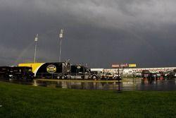 Rainbow over Texas Motor Speedway