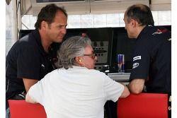 Gerhard Berger, Scuderia Toro Rosso, 50% Team Co Owner, Keke Rosberg and Franz Tost, Scuderia Toro R