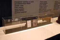 Samsung 500 Pole winner Baretta shotgun