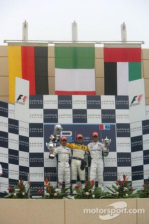 Luca Filippi (ITA, Super Nova International) 1st, Timo Glock (GER, iSport International) 2nd, Andreas Zuber (GER, iSport International) 3rd