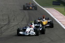 Robert Kubica, BMW Sauber F1 Team, F1.07, Giancarlo Fisichella, Renault F1 Team, R27