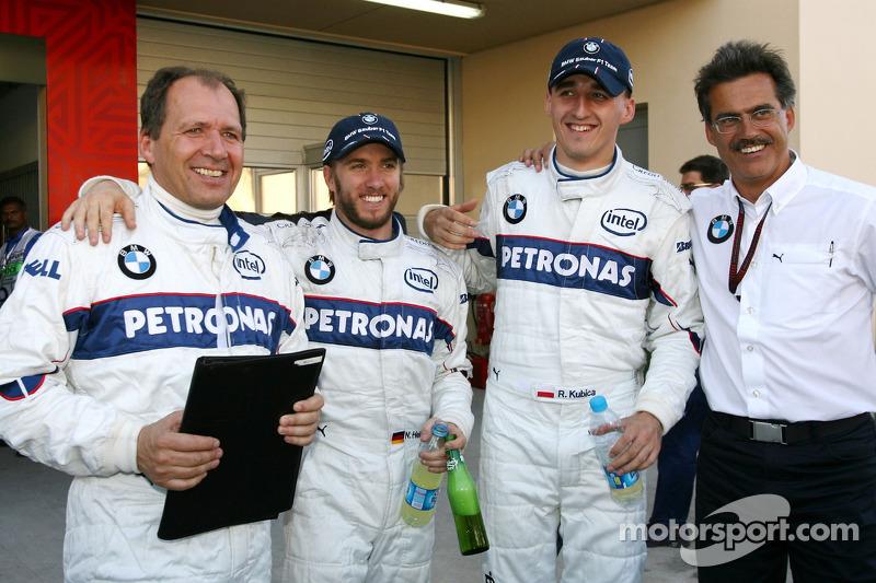 Nick Heidfeld, BMW Sauber F1 Team, Robert Kubica, BMW Sauber F1 Team, Dr. Mario Theissen, BMW Saube