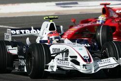 Robert Kubica, BMW Sauber F1 Team, F1.07, Felipe Massa, Scuderia Ferrari, F2007