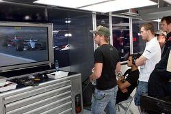 Scott Speed, Scuderia Toro Rosso Vitantonio Liuzzi, Scuderia Toro Rosso and Alex Speed, Brother to S