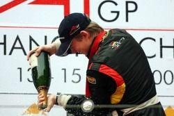 Podium, Nico Hulkenberg, Driver of A1Team Germany